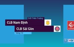 Tổng hợp diễn biến CLB Nam Định 1–0 CLB Sài Gòn (Vòng 13 Nuti Café V.League 2018)