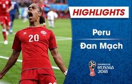 HIGHLIGHTS: Peru 0–1 Đan Mạch (Bảng C FIFA World Cup™ 2018)