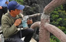 Chưa dỡ xong công trình trái phép trên núi Cái Hạ thuộc Tràng An cổ
