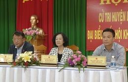 Trưởng ban Dân vận Trung ương tiếp xúc cử tri tỉnh Lâm Đồng