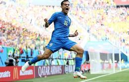 KẾT QUẢ FIFA World Cup™ 2018: Coutinho, Neymar lập công phút cuối, ĐT Brazil thắng kịch tính ĐT Costa Rica!
