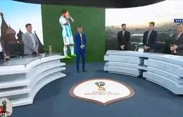 """MC, BLV Argentina dành 1 phút """"mặc niệm"""" sau thảm bại trước ĐT Croatia"""