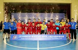 Thắng đậm New Zealand, ĐT Việt Nam giành ngôi Á quân Giải futsal quốc tế CFA 2018