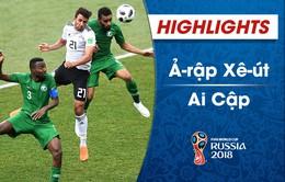 HIGHLIGHTS: ĐT Ai Cập 1-2 ĐT Ả Rập Xê Út (FIFA World Cup™ 2018)
