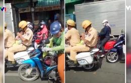 TP.HCM: Cảnh sát giao thông đưa em bé bị ngất đi cấp cứu