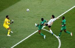 """Chọc thủng lưới ĐT Saudi Arabia, Salah giúp ĐT Ai Cập lần đầu """"ưỡn ngực"""" ở FIFA World Cup™ 2018"""