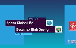 VIDEO: Tổng hợp diễn biến Sanna Khánh Hòa BVN 1-1 Becamex Bình Dương (Vòng 16 Nuti Café V.League 2018)