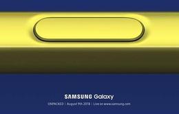 Samsung gửi thư mời tham dự sự kiện ra mắt Galaxy Note 9 vào 9/8