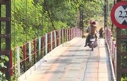 Cầu treo Ia Grăng (Gia Lai) đã được sửa chữa sau phản ánh của VTV