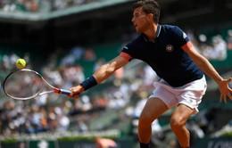 Vượt qua Nishikori, Dominic Thiem thẳng tiến vào tứ kết Pháp mở rộng 2018