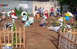 Đồng Tháp: Biến điểm tập kết rác thành vườn hoa