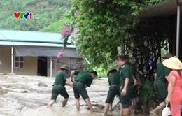 Bộ đội Biên phòng Lai Châu tích cực tham gia khắc phục hậu quả mưa lũ