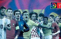 La Liga thống trị World Cup 2018 với 80 tuyển thủ