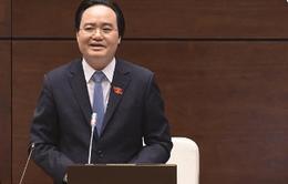 Bộ trưởng Bộ GD-ĐT Phùng Xuân Nhạ trả lời chất vấn