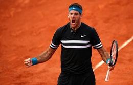 Pháp mở rộng 2018: Đánh bại Cilic, Del Potro gặp Nadal tại bán kết