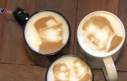 Cà phê in hình lãnh đạo Triều Tiên - Hàn Quốc