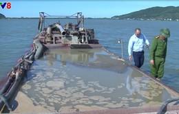 Nghệ An khởi tố đối tượng khai thác cát trái phép trên sông Lam