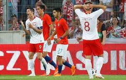 Giao hữu quốc tế: Ba Lan hòa đáng tiếc trước Chile, Thụy Sĩ thắng thuyết phục Nhật Bản