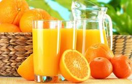 Nước cam vắt gây hại cho men răng
