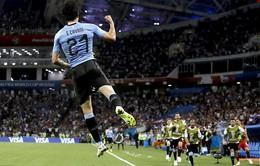 KẾT QUẢ Uruguay 2-1 Bồ Đào Nha: Cavani lập cú đúp bàn thắng, Ronaldo theo chân Messi rời World Cup 2018!
