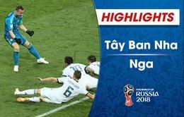 HIGHLIGHTS: ĐT Tây Ban Nha 1-1 (3-4 pen) ĐT Nga (Vòng 1/8 FIFA World Cup™ 2018)