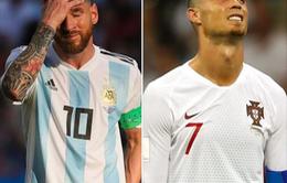 Khoảnh khắc Messi và Cris Ronaldo thất thần rời FIFA World Cup™ 2018