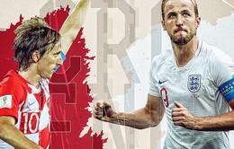 Croatia – Anh: Thầy trò HLV Southgate tự tin trước trận bán kết World Cup 2018