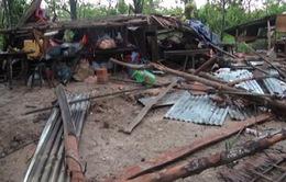 Hậu Giang: Lốc xoáy làm sập nhiều nhà dân