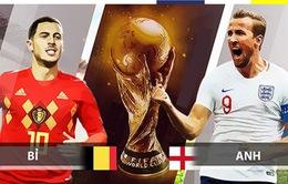 Lịch thi đấu và tường thuật trực tiếp World Cup 2018 hôm nay: ĐT Bỉ - ĐT Anh (Tranh hạng Ba)