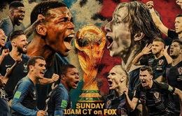 Chung kết World Cup 2018, Pháp – Croatia: Thay đổi lịch sử, viết nên kỳ tích! (22h00 hôm nay trực tiếp trên VTV2 và VTV6)