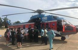 Trực thăng cấp cứu kịp thời ngư dân bị nạn ở Trường Sa