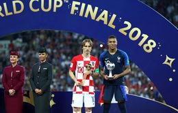 Các danh hiệu cá nhân FIFA World Cup™ 2018: Modric xuất sắc nhất