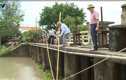 Bão số 3 gây mưa lớn, nông dân Hà Tĩnh tập trung tiêu úng đồng ruộng