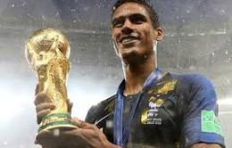 Trung vệ Varane có năm 2018 thành công hơn cả Ronaldo, Mbappe