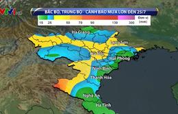 Bắc Bộ và Bắc Trung Bộ mưa lớn kéo dài, nguy cơ lũ quét, sạt lở đất