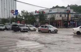 VIDEO: Đường Hà Nội biến thành biển nước, xe chết máy hàng loạt