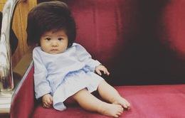 Bé gái 6 tháng tuổi gây sốt vì mái tóc dựng ngược có một không hai