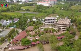 Doanh nghiệp xây resort lấn chiếm sông Hậu, Cần Thơ