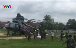 Quân khu 5 khẩn trương ứng cứu người dân Lào bị thiệt hại do vỡ đập thủy điện