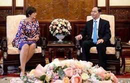 Chủ tịch nước Trần Đại Quang tiếp Đại sứ Bỉ đến chào từ biệt