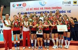 VTV Cup 2010: ĐT bóng chuyền nữ Việt Nam bảo vệ thành công chức vô địch