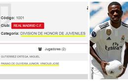 Real Madrid bất ngờ đẩy thần đồng Vinicius Junior xuống đội trẻ