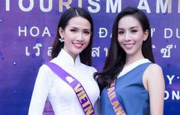 Phan Thị Mơ đọ sắc cùng người đẹp Thái Lan tại Hoa hậu Đại sứ Du lịch thế giới 2018