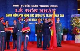 Ban Tuyên huấn Khu ủy Khu V đón nhận danh hiệu Anh hùng Lực lượng vũ trang nhân dân
