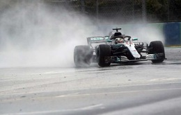 Đua xe F1: Hamilton bất ngờ giành pole dưới trời mưa tại Hungary, Ferrari và Red Bull gây thất vọng