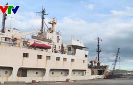 Tàu Oparin cập cảng Nha Trang kết thúc tốt đẹp chuyến khảo sát biển lần thứ 6
