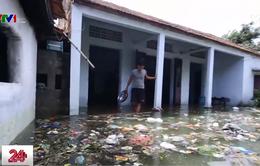 """""""Biển rác"""" bủa vây người dân ngoại thành Hà Nội sau mưa lũ"""