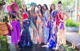 Dàn thí sinh Hoa hậu Đại sứ Du lịch thế giới 2018 diện đồ dạo biển khoe dáng ở Hội An