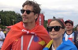 Phóng viên Thể Thao VTV tác nghiệp tại Nga: Niềm vui cho ĐT Thụy Điển