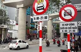 Hà Nội tiếp tục cấm taxi và xe hợp đồng tại các tuyến phố ùn tắc